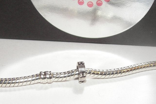 925 sterling silver charm spacer , charms for European charm bracelets, large hole bead charms for snake chain bracelet