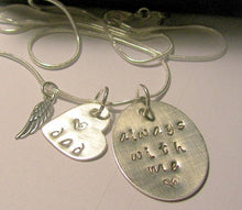 Load image into Gallery viewer, Always with me, always in my heart, infant loss, custom jewelry,  hand stamped jewelry, memory necklace, personalized jewelry