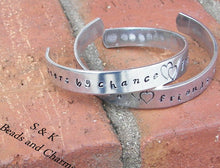 Load image into Gallery viewer, sterling silver Sisters by chance friends by choice bracelet, personalized sister gifts, hand stamped bracelet for sisters,