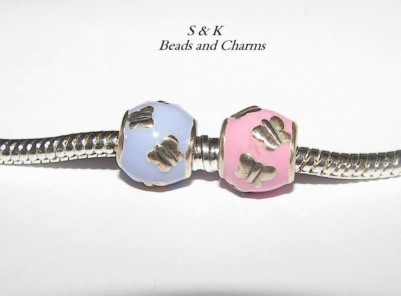 925 sterling silver Butterfly charm, European charm bracelets charm, animal charms to fit pandora, charms for snake chain bracelet