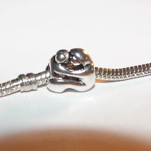 925 sterling silver couple charm, European charms , European large hole  bead to fit snake chain bracelet