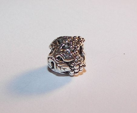 925 sterling silver , round grape vine spacer,   European charms , european charm, European bead, fits snake chain bracelet