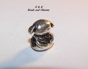 925 sterling silver girl charm,  European large hole bead, charm for Mother's charm bracelet