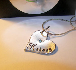Name charm, Hand stamped jewelry, personalized, engraved jewelry, name necklace, mommy necklace, custom stamped, handstamped, custom stamped