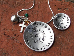 Sterling, custom stamped, personalized necklace, teacher gift, hand stamped jewelry, handstamped  takes a big heart to teach little minds,