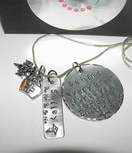 Load image into Gallery viewer, sterling Nurses instructor gift Behind every nurse is a great instructor,  custom personalized  Hand stamped jewelry, RN instructor gift