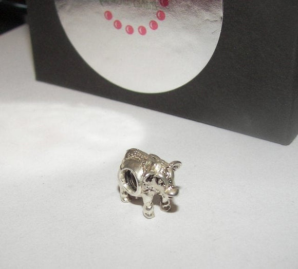 cow charm, European charm , farm animal charm,  authentic 925 silver charm , fits European charm bracelets