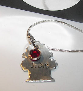 Mom or wife of a hero , fire hydrant charm with inital , gift for fireman wife ,custom personalized hand stamped jewelry