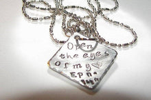 Load image into Gallery viewer, Open the eyes of my heart Lord necklace, custom hand stamped jewelry , personalized religious necklace