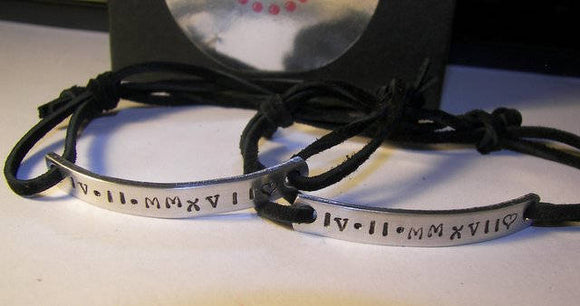 long bar coordinates bracelet for couples ,  message and date bracelet for him,  custom personalized hand stamped jewelry