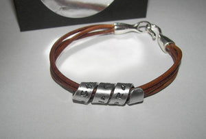 Personalized jewelry, Leather  bracelet, hand stamped jewelry , custom jewelry, couples bracelets, Men's Gift, Secret Message, Men's Cuff,