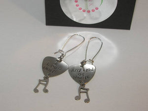 Music lover custom hand stamped personalized earrings, guitar pick musical earrings, gift for music  lover handstamped jewelry