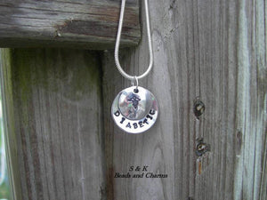 Hand stamped Medical alert tag,  personalized medical jewelry , custom medical allergy informationnecklace handstamped jewelry