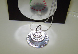 I love you to the moon and back, Kids name necklace for mom, personalized mothers necklace , custom hand stamped mommy jewelry