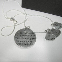 Load image into Gallery viewer, Sterling silver God could not be everywhere so he created mom , custom personalized hand stamped jewelry, mommy necklace with kids names