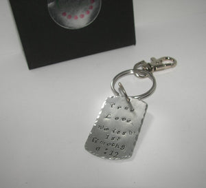 1st Timothy 4:12 true love wait , purity promise keychain, religious quote keychain, custom personalized hand stamped jewelry