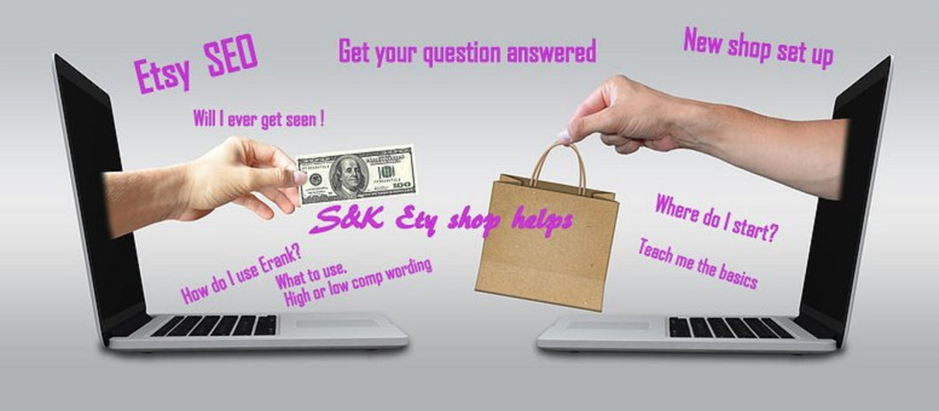 SEO shop Complete video review, One on one shop help review of shop, Etsy shop review and walk thur help