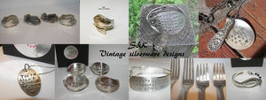 Custom jewelry from your family silverware, custom request silverware jewelry,  your own silverware jewelry, family heirloom silverware gift