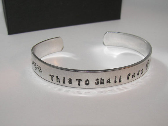 This Too Shall Pass Bracelet, This Too Shall Pass Cuff, Stacking Cuff, This Too Shall Pass Jewelry, Custom Cuff Jewelry, gift for her