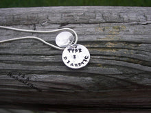 Load image into Gallery viewer, Sterling silver,  Medical alert tag, allergy tag, Hand stamped jewelry, personalized, engraved,  personalized jewelry, hand stamped ,2 layer
