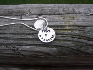 Sterling silver,  Medical alert tag, allergy tag, Hand stamped jewelry, personalized, engraved,  personalized jewelry, hand stamped ,2 layer