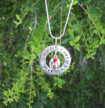 Load image into Gallery viewer, I love my fireman hero mommy necklace, personalized jewelry for Fire fighters wife , custom hand stamped jewelry handstamped jewelry