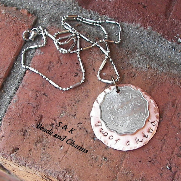 Unique Vintage coin jewelry,  mommy necklace, custom stamped handstamped jewelry