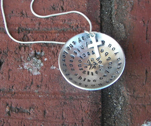 May the Lord bless you, Numbers 6:24-26, sterling silver, Hand stamped jewelry, mommy jewelry, personalized jewelry, inspirational charm