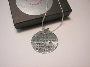 925 sterling silver Every saint has a past every sinner has a future, Custom personalized hand stamped jewelry,  religious jewelry