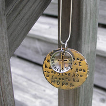 Load image into Gallery viewer, For I know the Plans I have for you custom hand stamped jewelry, personalized religious necklace, Jeremiah 29:11