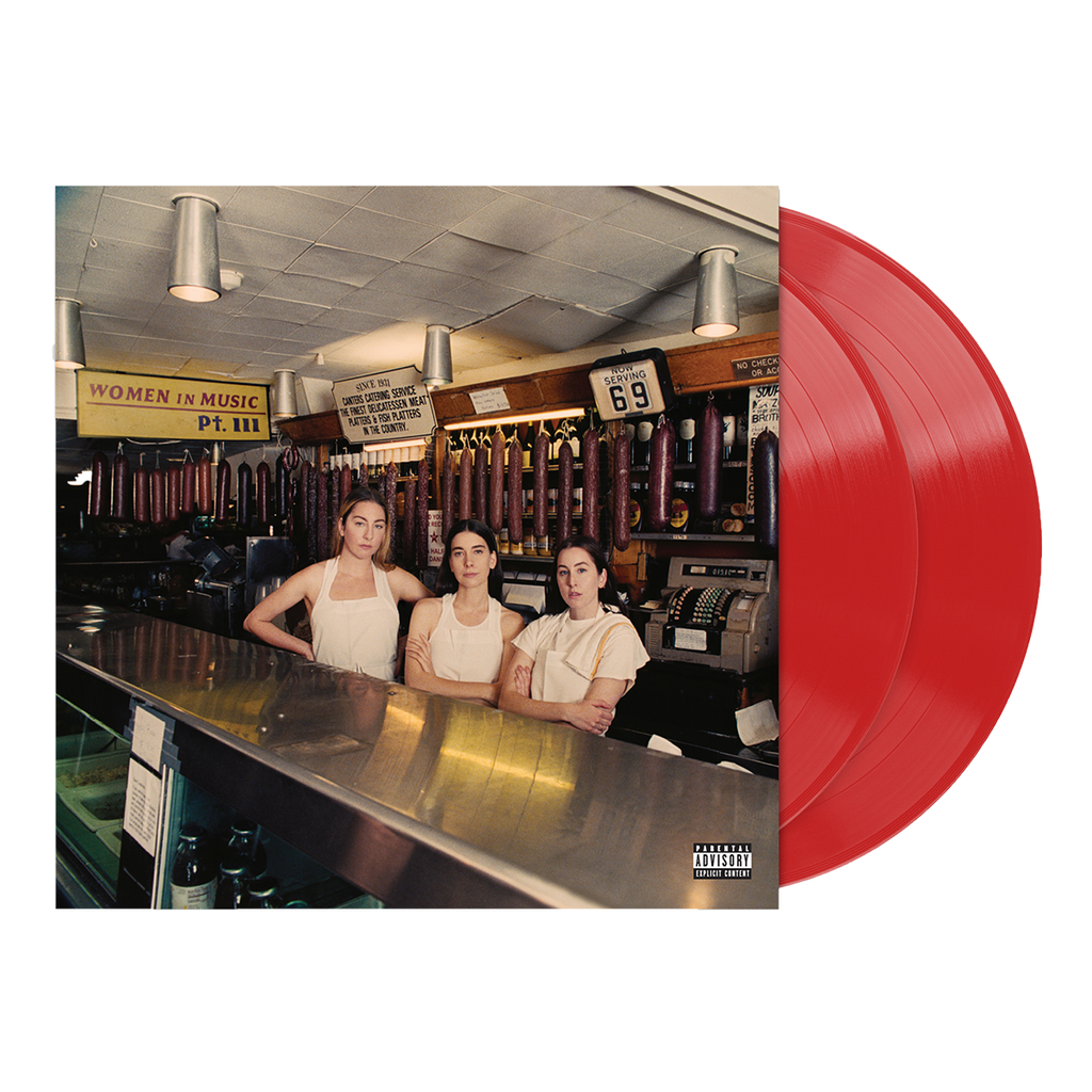 Women in Music Pt. III Red Opaque Vinyl + Signed Postcard-Haim