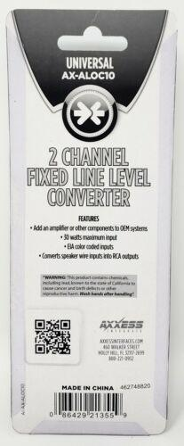 30-Watt 2-Channel RCA Line-Output Converter 6:1 fixed step down