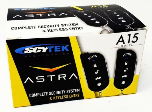 Scytek A15 Keyless Entry Car Alarm Security System, 2 Key Fob 2 Door Locks