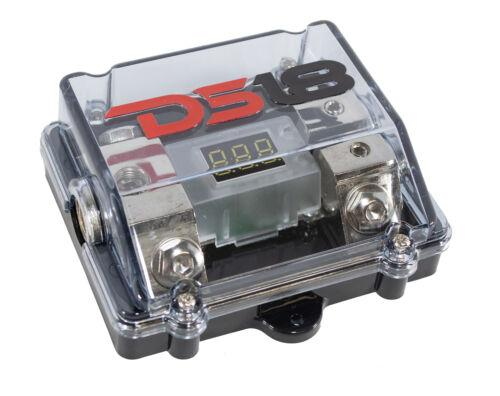 DS18 LED ANL Fuse Holder Distribution Block 0GA IN 2x 4GA Out FDG1024ANLDIG
