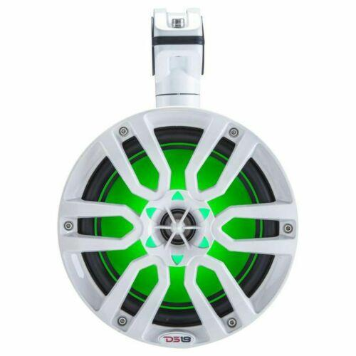 "DS18 Hydro 6"" Wakeboard Pod Tower Speakers RGB LED ATV UTV Boat NXL6TP White"