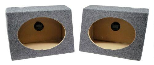 "2x DS18 6 x 9"" Pro Car Audio Speakers 520W Coaxial 6x9 Speaker Box Enclosures"