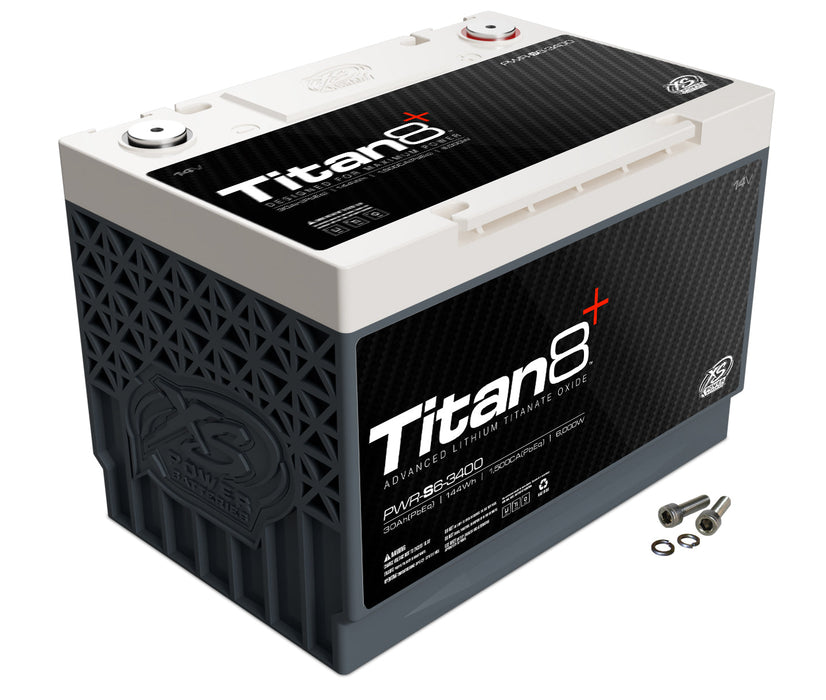 XS Power Titan 8 6000 Watt 14V 2000 Max Amps Lithium Battery PWR-S6-3400