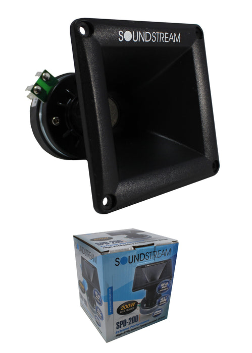 "SPD-200 1"" Phenolic Tweeter Driver w/ 4.5"" Horn 200w 4-ohm Car Audio"