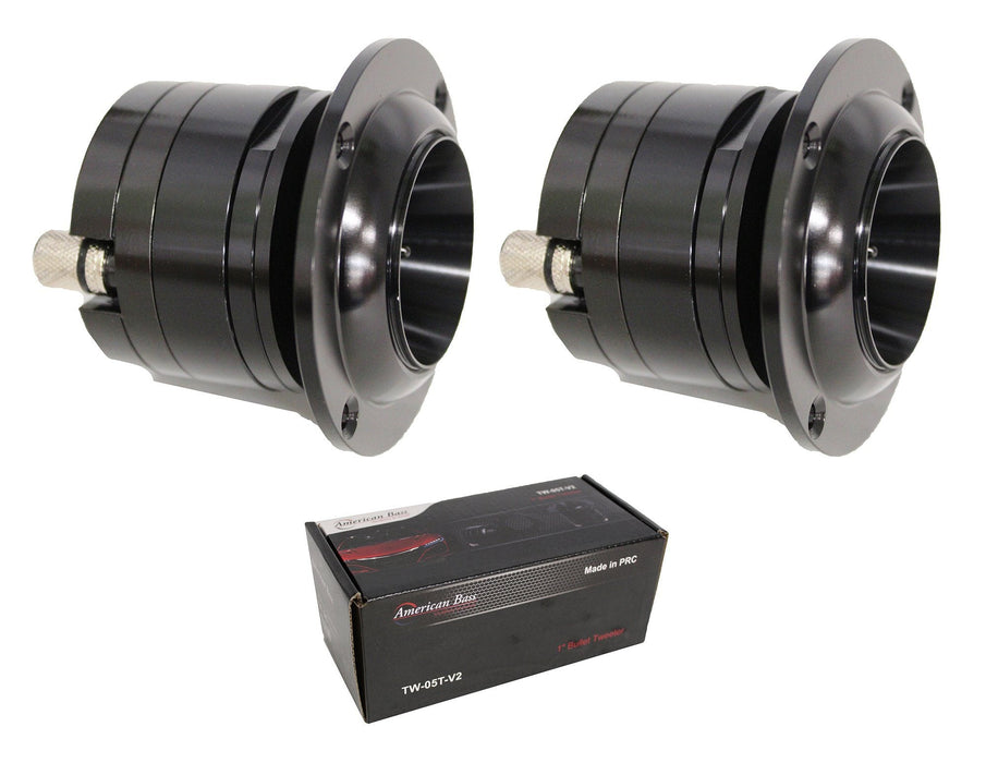 "Pair of American Bass 1"" 300W 4 Ohm Aluminum Bullet Tweeter TW-05T-V2"
