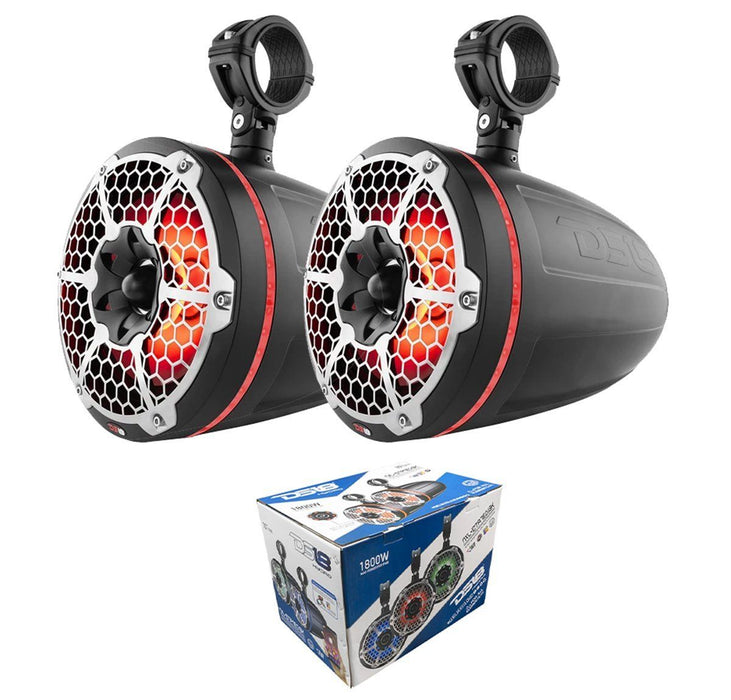 "NXL-10TPNEO-BK 10"" 1800W Waterproof LED RGB Tower Speakers 4 ohm Neodymium"