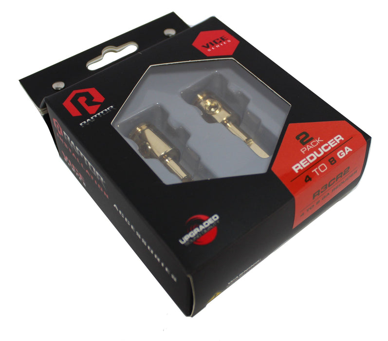Install Bay 4 GA to 8 GA Reducer Adapter 2 Pack Nickel Power Ground Amplifier