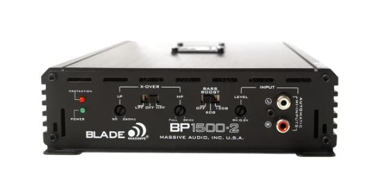 Massive Audio Blade Series BP1500.2 2 Channel 1500 Watt Full Range Amplifier
