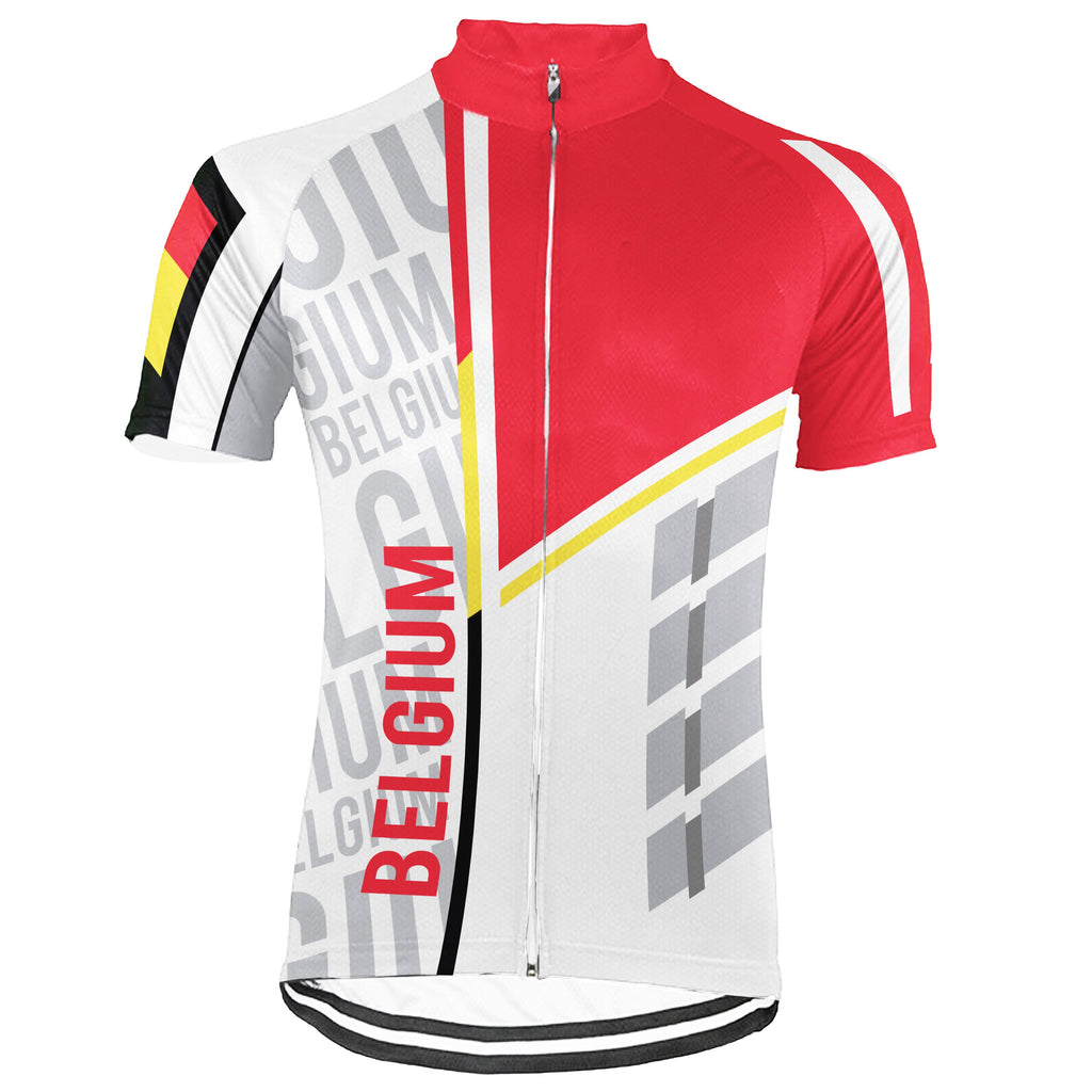 Belgium Short Sleeve Cycling Jersey for Men