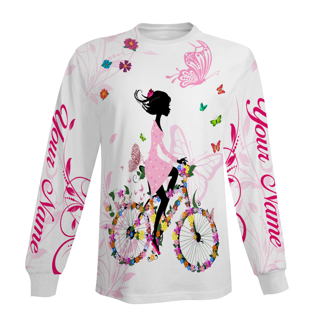 Pink Cycling Long Sleeve, Hoodie and Zip Up Hoodie- Personalized and Comfortable Jersey For Men