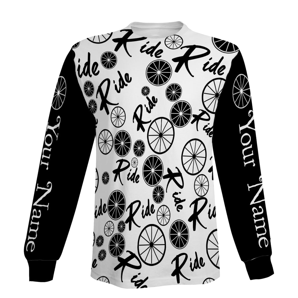 Ride Jersey Men's Cycling Long Sleeve, Hoodie and Zip Up Hoodie- Full Printing, Personalized and Comfortable Biking Shirt For Men