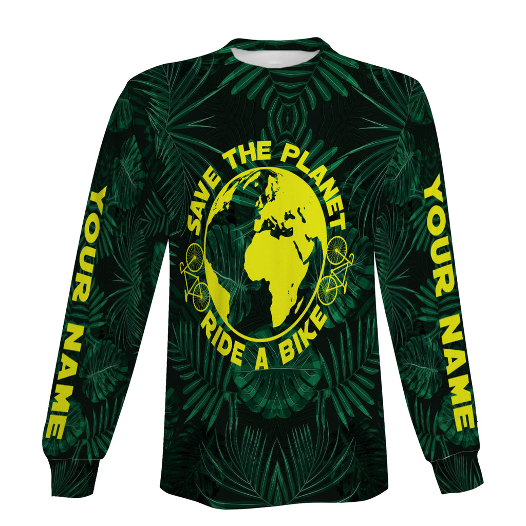 Save The Planet Long Sleeve, Zip Up Hoodie and Hoodie- Men's Personalized,Comfortable and Quick-Dry  Biking Jersey