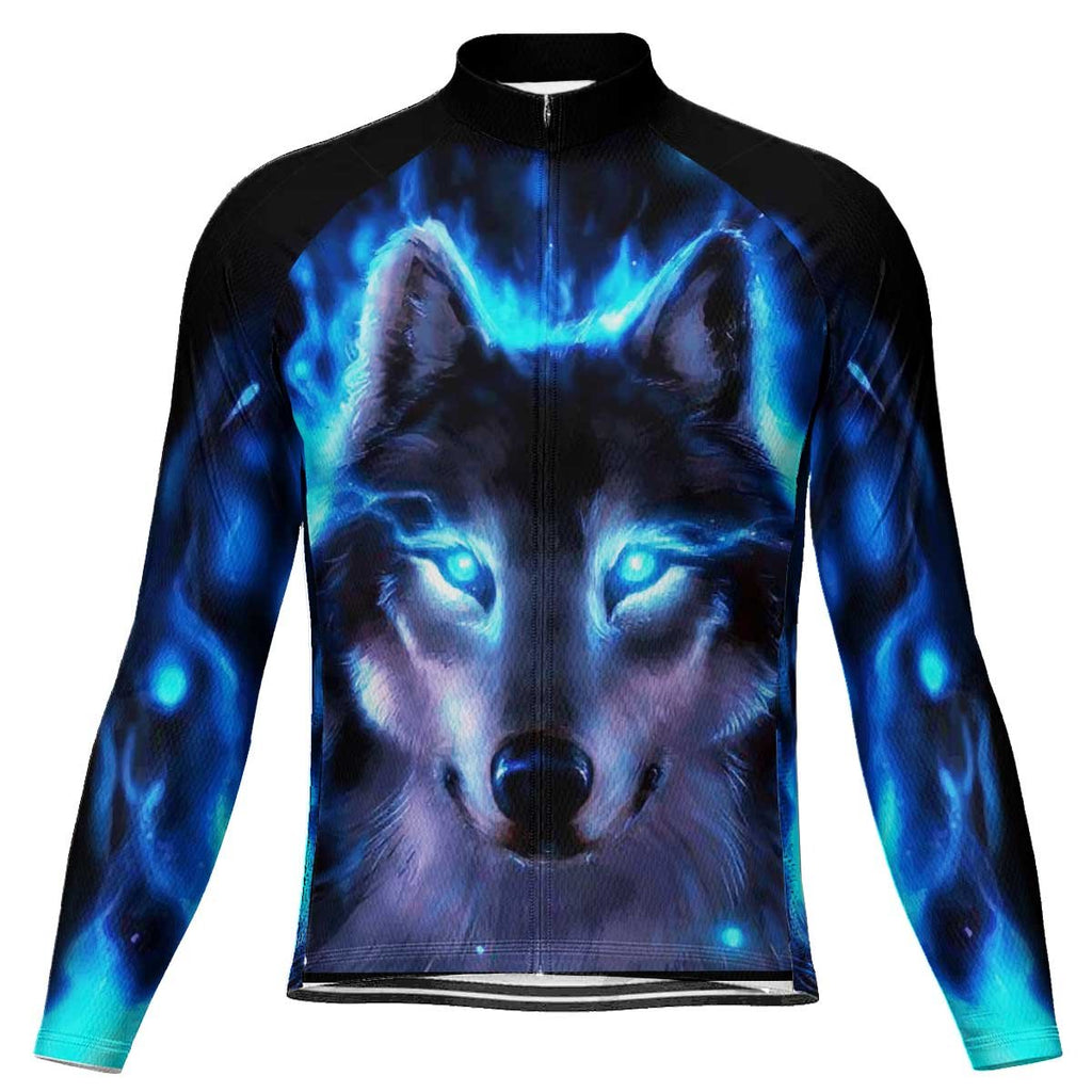 Wolf Long Sleeve Cycling Jersey for Men