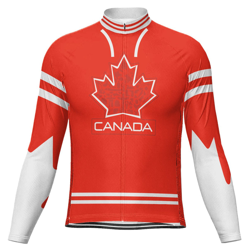 Customized Canada Long Sleeve Cycling Jersey for Men