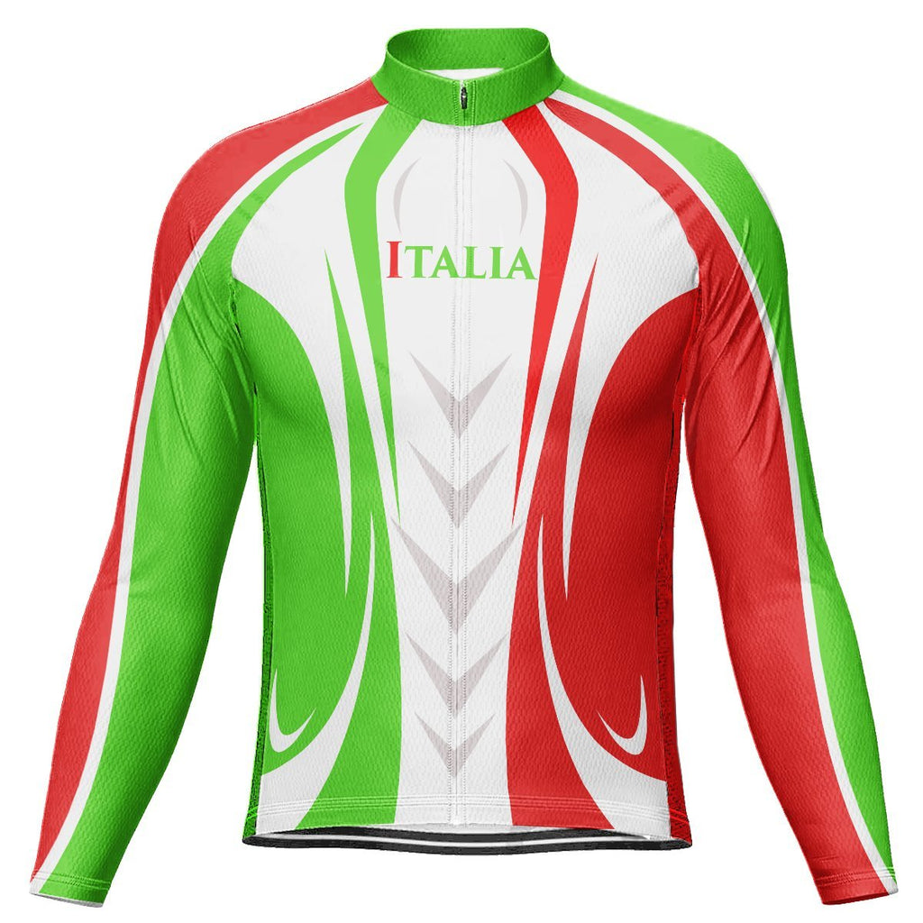 Italian Long Sleeve Cycling Jersey for Men