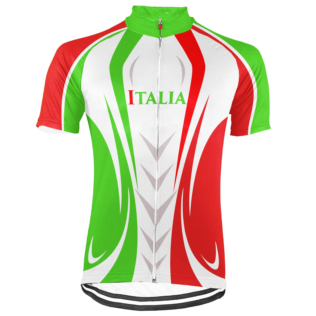 Italian Short Sleeve Cycling Jersey for Men